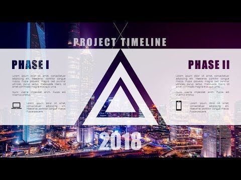 How To Create Beautiful Project Timeline Presentation Template Slide in Microsoft Office PowerPoint
