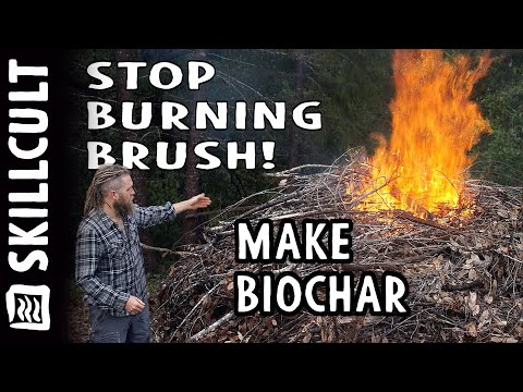STOP BURNING BRUSH!, Make Easy Biochar, Every Pile is an Opportunity!
