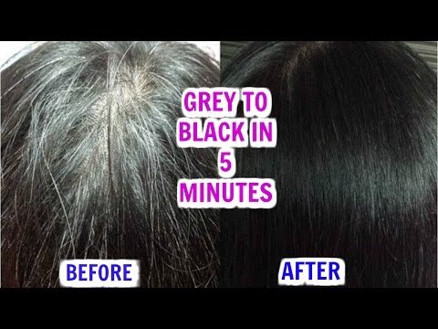 How To Stop Grey & White Hair Naturally In 5 Minutes | SuperPrincessjo