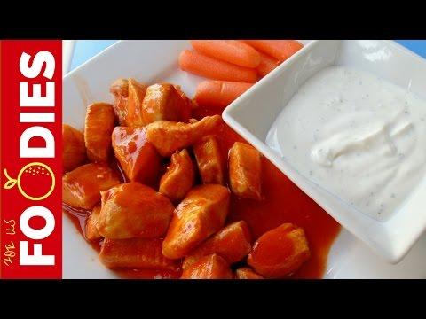 Buffalo Chicken Breast Bites - Easy Recipe