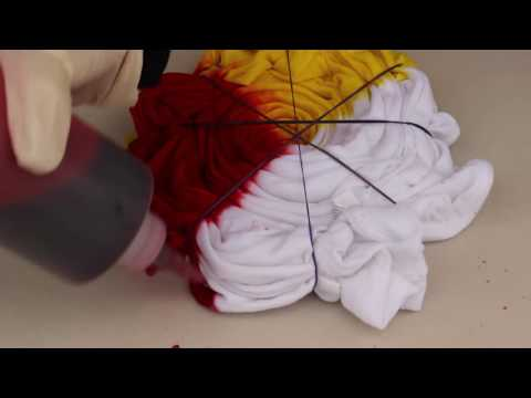 How To Make Rainbow Spiral Tie Dye T-shirt