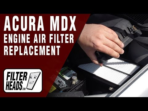 How to Replace Engine Air Filter 2009 Acura MDX V6 3.7L
