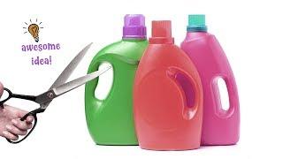 6 BRILLIANT WAYS To REUSE/RECYCLE PLASTIC SOAP BOTTLES| Best Reuse Idea