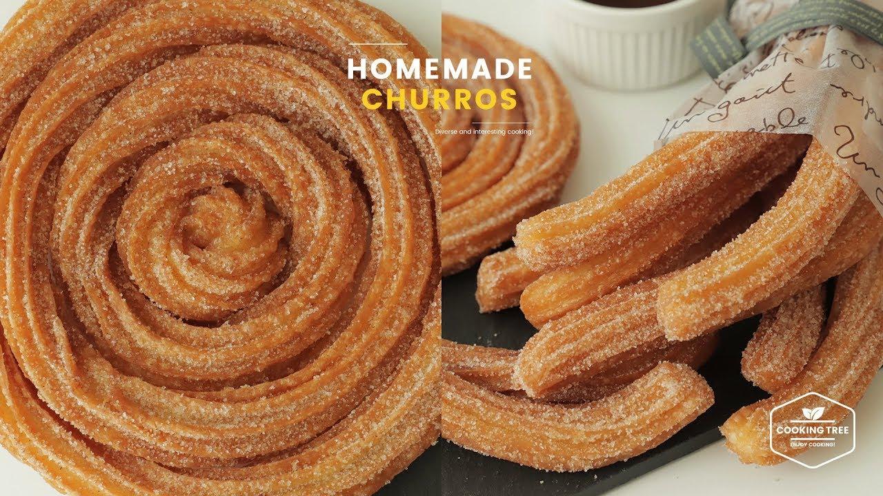 바삭바삭! ๑❛ڡ❛๑ 츄러스 만들기 : Homemade Churros Recipe : チュロス | Cooking tree