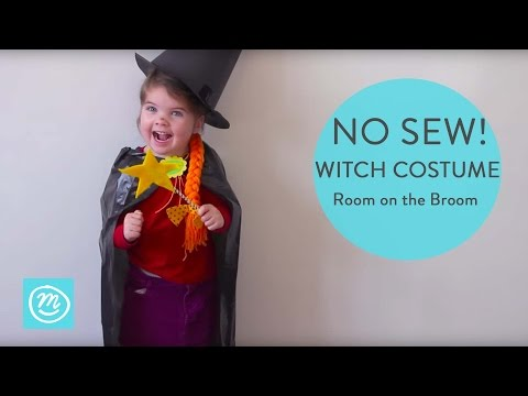 How To Make a Room On The Broom Witch Costume | Channel Mum