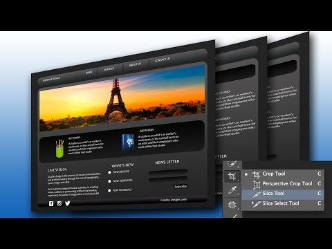 Slice Tool Photoshop Tutorial for Html Website