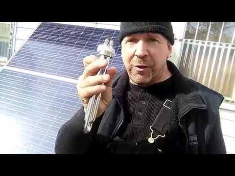 Heating water with a solar panel