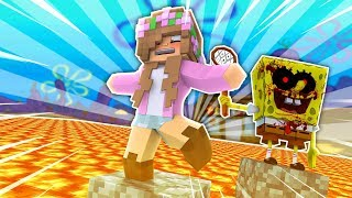 SPONGEBOB.EXE FLOOR IS LAVA! Minecraft Little Kelly
