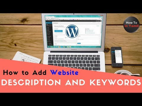Add meta description & keywords on your WordPress Site Homepage | How to in Tamil
