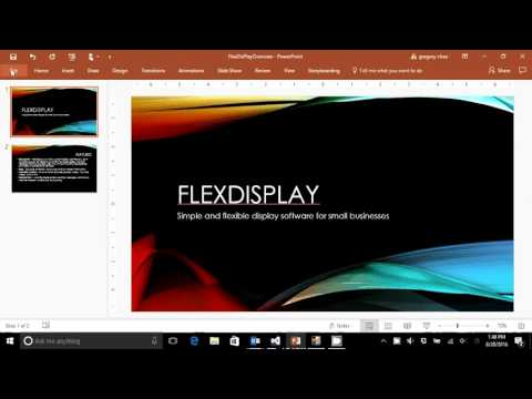 FlexDisplay Help Videos: 8 - Converting Powerpoint to Video Format and Adding to Library