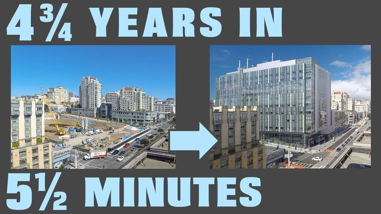 A new hospital rises: 4¾ years of construction in a 5½ minute time-lapse