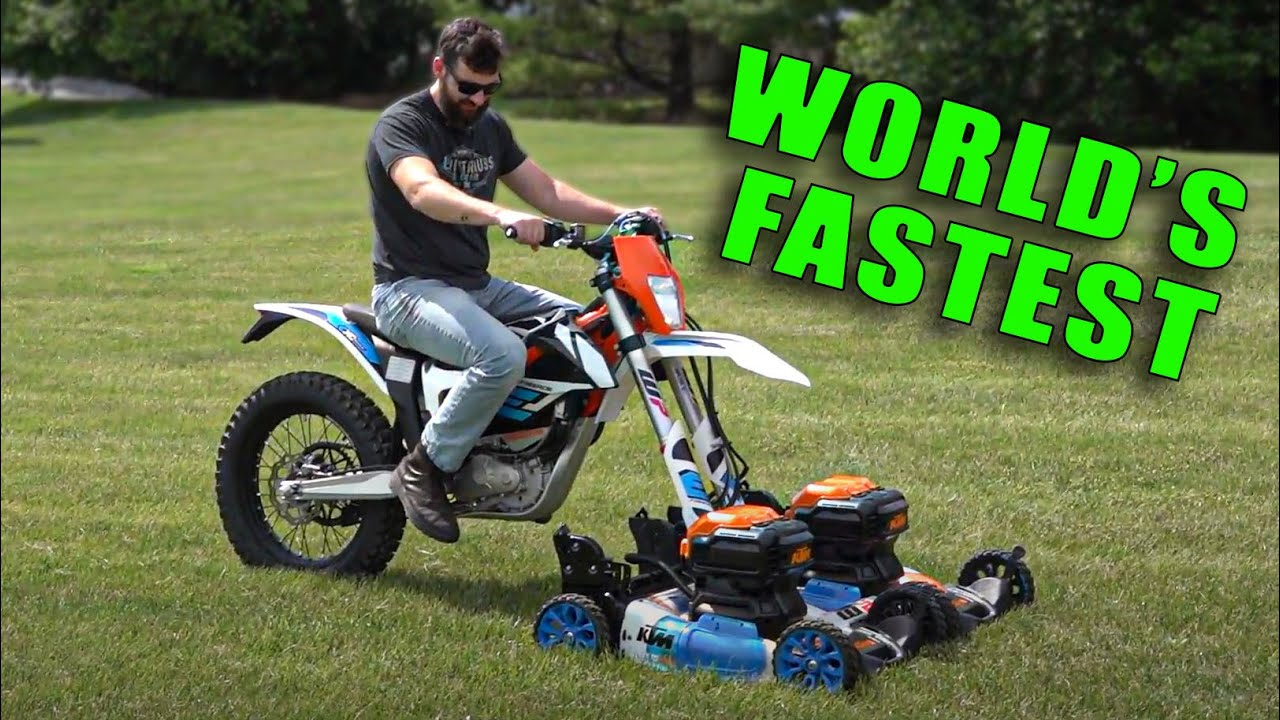 I Built the Worlds Fastest Electric Lawn Mower
