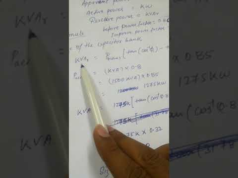 How to calculate capacitor bank in easy method