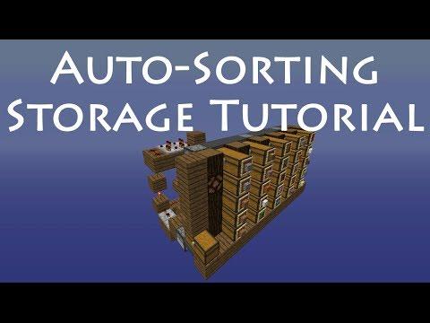 Vanilla Survival Auto-sorting Storage System in Minecraft (November, 2013)