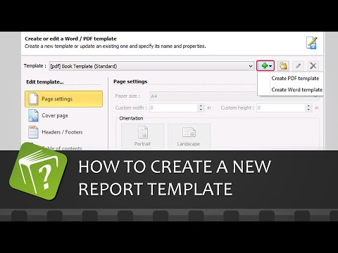 How to create a new report template (Step-by-step guide)