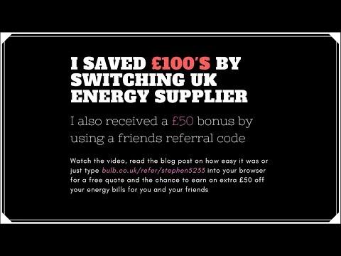 Thinking of saving money and changing UK energy supplier?