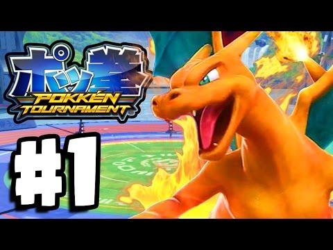 Pokken Tournament Gameplay Part 1 - FERRUM LEAGUE GREEN LEAGUE! (Pokken Wii U)