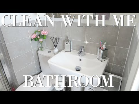 HOW TO CLEAN YOUR BATHROOM | CLEAN MY ENSUITE WITH ME | RELAXING CLEAN WITH ME SPEED CLEAN 2018