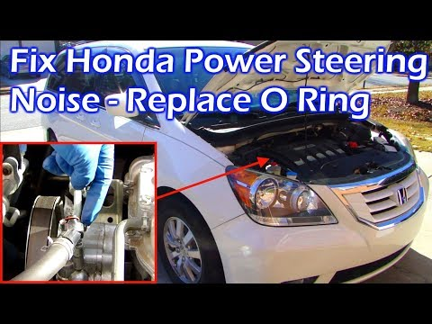How To Fix Honda Power Steering Noise - Replace Steering Pump O Ring