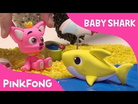 How to make a clay Baby Shark | Pinkfong Clay | Animal Songs | Pinkfong Songs for Children