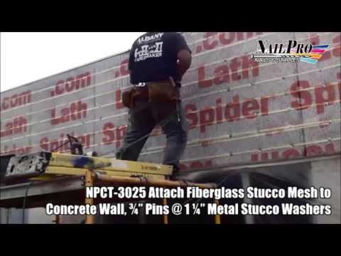 Spiderlath Stucco Mesh to Concrete