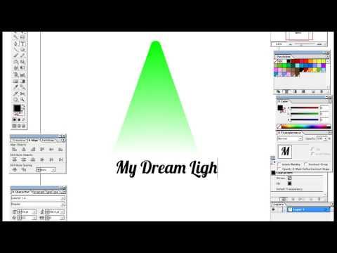 How to create lighting effect in illustrator method 1
