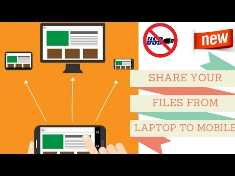 How To Send Files From Mobile To Laptop Via Wifi Direct - Easy Method Step By Step 2017