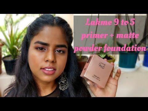 Lakme 9 to 5 Primer + Matte Powder Foundation Compact Review