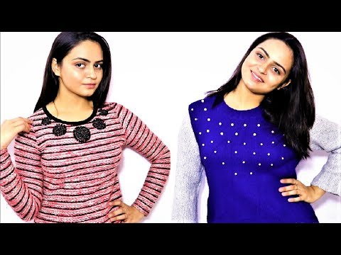 DIY TRENDY SWEATER | OLD TO NEW | SIMRAN NIKKY