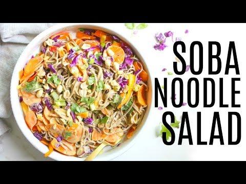 SOBA NOODLE SALAD WITH PEANUT DRESSING | This Savory Vegan