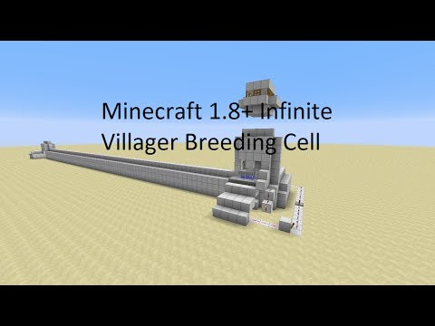 Minecraft 1.8 Simi-Infinite Villager Breeder! (Breed as You Trade)
