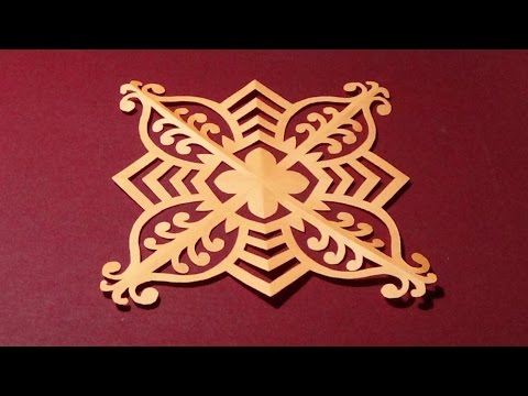 DIY Home Decor | Paper Snowflake | Easy And Simple Steps |