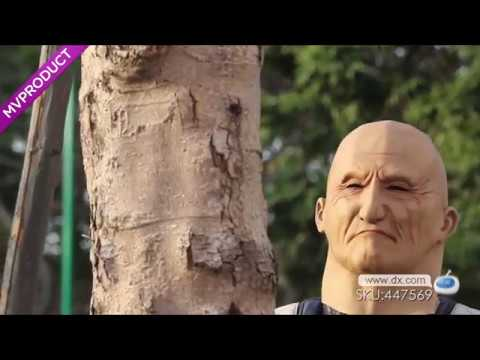Change your face now!DX: Eye Wrinkled Old Man Masquerade Mask - Beige