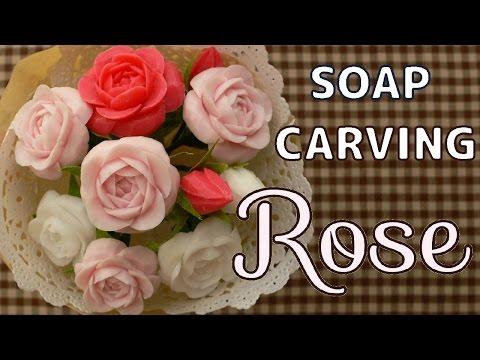 SOAP CARVING| Full Bloom Rose | Tutorial | figure carving |