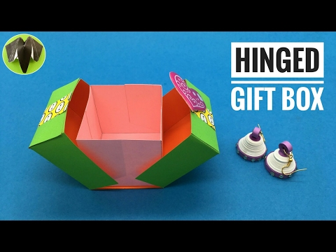 Hinged Square Gift Box - DIY Tutorial by Paper Folds - 789