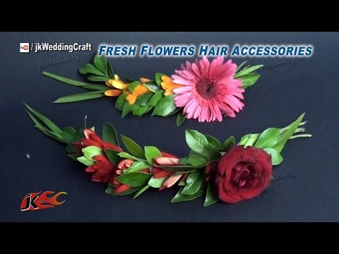 DIY How to Make a fresh Flower Hair Accessories | JK Wedding Craft033