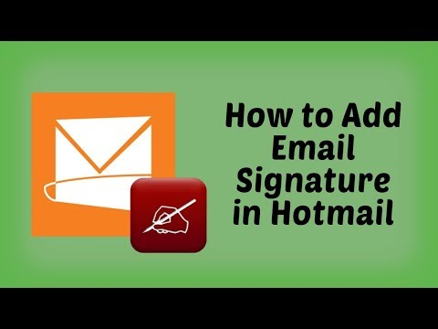 How to Add a Signature to Hotmail | Hotmail Tutorials in Hindi