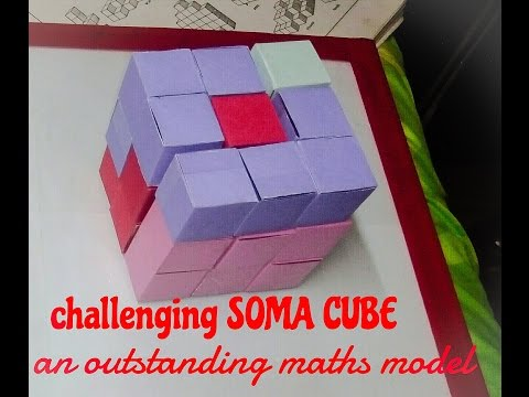 maths working model |  SOMA CUBE PUZZLE