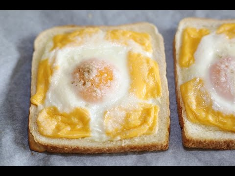 Toast Recipe : How to Make Cheesy Baked Egg Toast