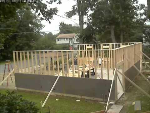 Timelapse of a garage build - framing walls.