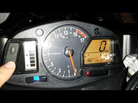 How To Change CBR600 MPH - KPH / Clock / Fahrenheit - Celsius