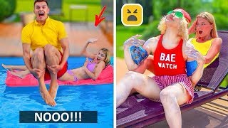 TYPES OF PEOPLE AT POOL   Relatable Facts
