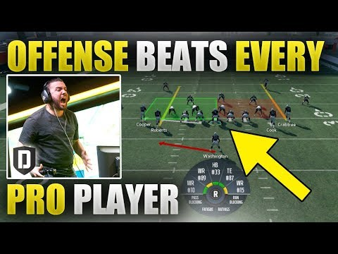 EASY OFFENSIVE SCHEME THAT EVEN PRO PLAYERS CANT STOP | Unstoppable Madden 18 Offensive Scheme