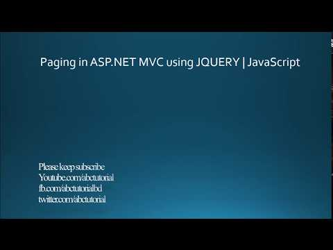 Paging in ASP.NET MVC | Using Jquery Ajax