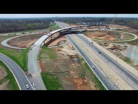 Latest Aerial Views of I-785/I-840 Northeastern Urban Loop Interchange Construction - Greensboro, NC