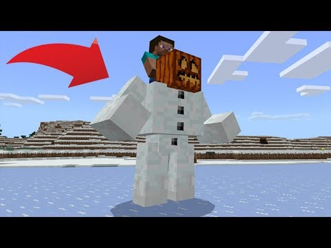 How To Spawn a MUTANT SNOW GOLEM in MCPE **100% NOT FAKE**