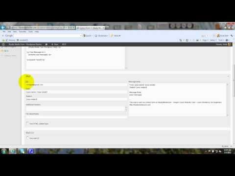 Wordpress Email Contact Form 7 Plugin - Tutorial