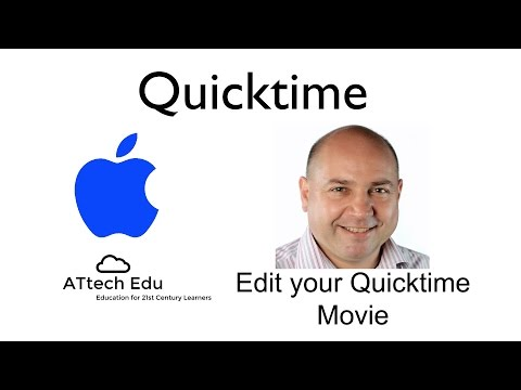 How to make simple edits in Apple Mac Quicktime - rotate flip trim join split movies in Quicktime