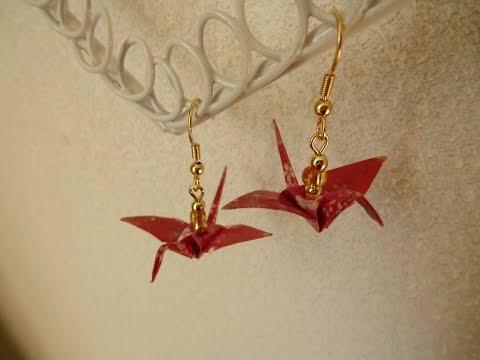 DIY Origami Crane Earrings