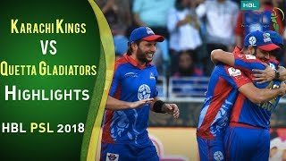Full Highlights | Karachi Kings Vs Quetta Gladiators | 23 February | Match 2 | HBL PSL 2018 | PSL
